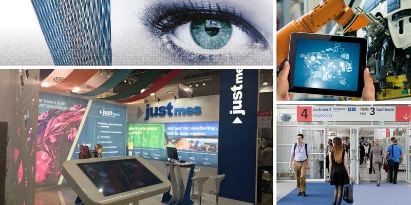 Industrie 4.0 et innovation numérique avec Just MES à Techtextil 2017 !